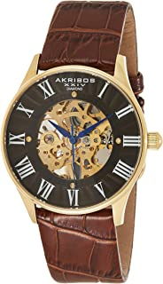 Akribos XXIV Men's Chronograph Tachymeter Scale Watch - Luminous Hands and Markers - Stainless Steel Mesh Bracelet