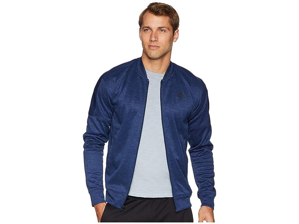 adidas Team Issue Fleece Bomber (Collegiate Navy Melange) Men