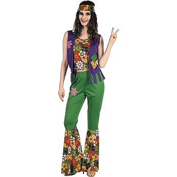 Generique - Disfraz de Hippie Flower Power Mujer S: Amazon.es ...