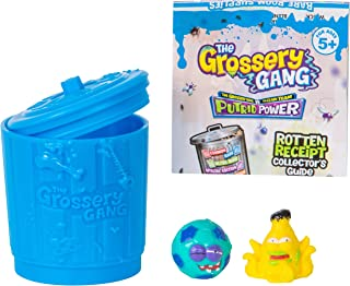 The Grossery Gang Series 3 Surprise Pack Trash Can with 2 Grosseries