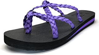 Women's Yoga Foam Flip Flops with Arch Support Thong Sandals Non-Slip