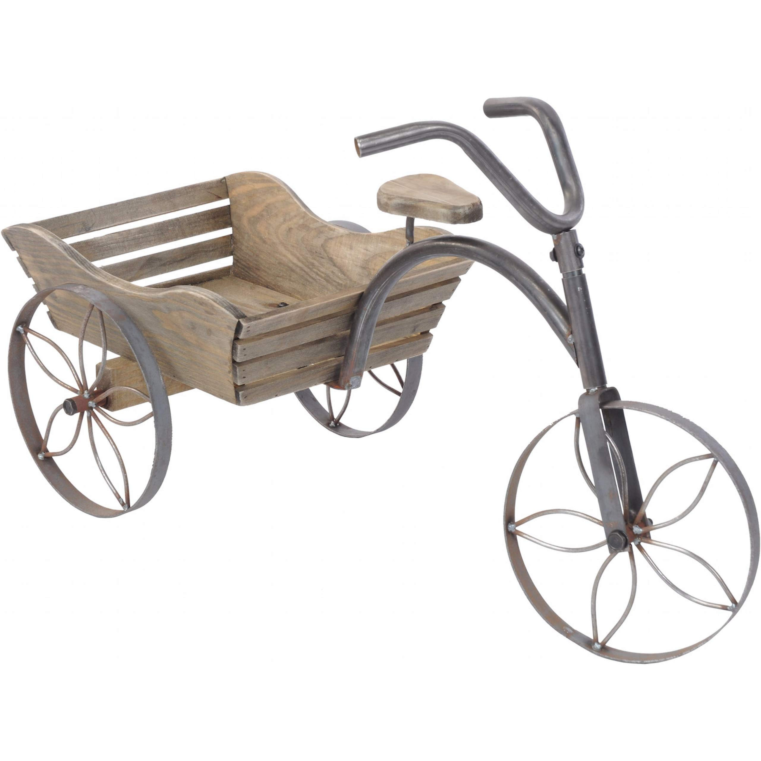 Bicicleta de madera decoración coche jardín plantas bicicleta ...