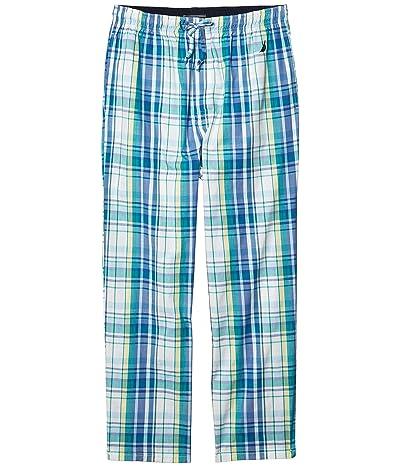Nautica Sleep Plaid Pants (Biscay Teal) Men