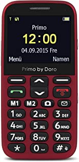 Primo 366 By Doro Mobiele Telefoon, met Grote Toetsen en Tafellaadstation, Rood