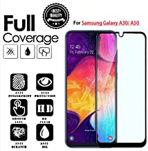 JGDWORLD HD Crystal Clear 11D Full Glue Edge to Edge Tempered Glass Screen Protector for Samsung Galaxy A30/A50