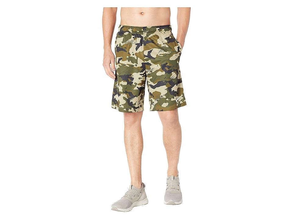 Nike Dry 2L Camo Shorts (Black/Neutral Olive/White) Men