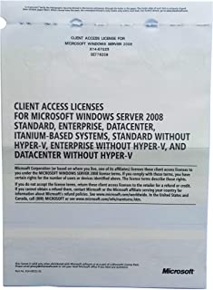 Microsoft Windows Server 2008 RDS TS Remote Desktop Services: 10 User/Device CALS Licences - Terminal Services - OEM