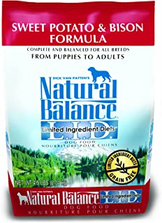 Natural Balance L.I.D. Limited Ingredient Diets Dry Dog Food, Sweet Potato & Bison Formula