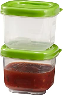 Rubbermaid Lunch Blox Sauce Containers, 3 Ounce, Green, Pack of 2 1806175