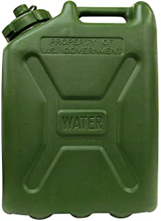 USGI Plastic Water Can, 5 Gallon, Green 3 Pack