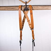 product image for HoldFast Gear Money Maker Two-Camera Harness (English Bridle, Tan, Small)
