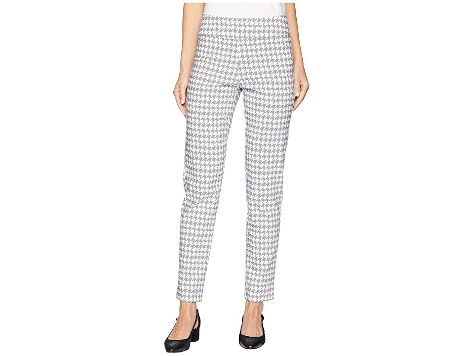 Vintage High Waisted Trousers, Sailor Pants, Jeans Krazy Larry Pull-On Ankle Pants Silver Mini Houndstooth Womens Dress Pants $119.00 AT vintagedancer.com