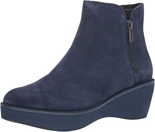 Kenneth Cole REACTION Women's Prime Platform Bootie with Side Zip Ankle Boot, Black Suede, 9.5 M US