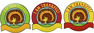 Eureka Back to School Peanuts Thanksgiving 'I Am Thankful' Paper Cut Out Decoration for Teachers , 36 pc, 5.5'' W x 5.5'' H