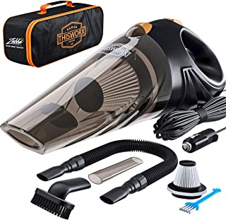Portable Car Vacuum Cleaner: High Power Corded Handheld Vacuum w/ 16 foot cable - 12V - Best Car & Auto Accessories Kit fo...