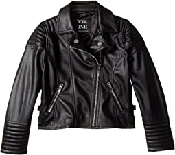 Vegan Leather Moto Jacket (Little Kids/Big Kids)