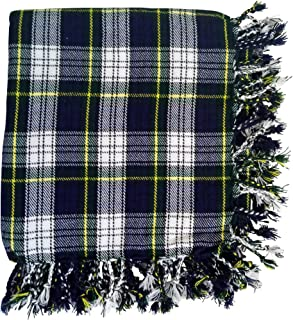 New Kilt Fly Plaid Acrylic Wool Scarf Rolled Fringe Shawl in Different Colors (Dress Gordon)