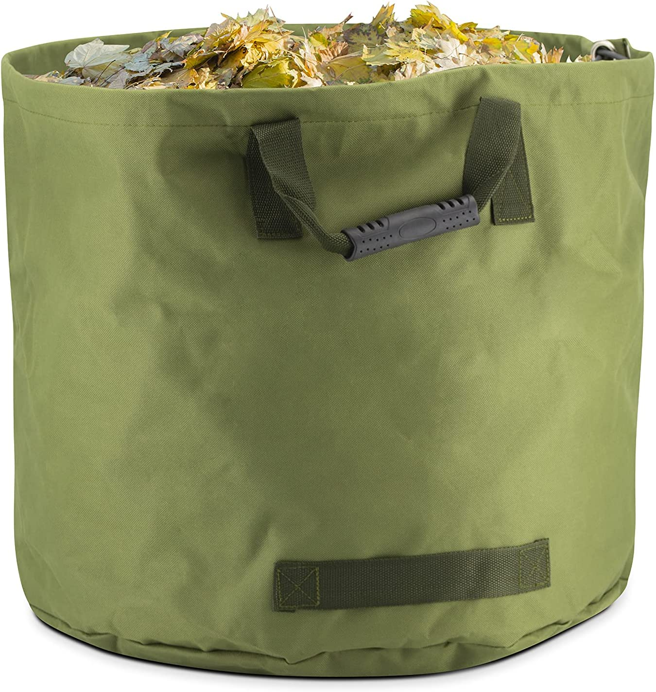 Eternal Living 33 Gallon Collapsible Yard Lawn Garden Bag with Resistant Bottom and Handles, Yard Waste Container Tote Leaf Bin XL, Green