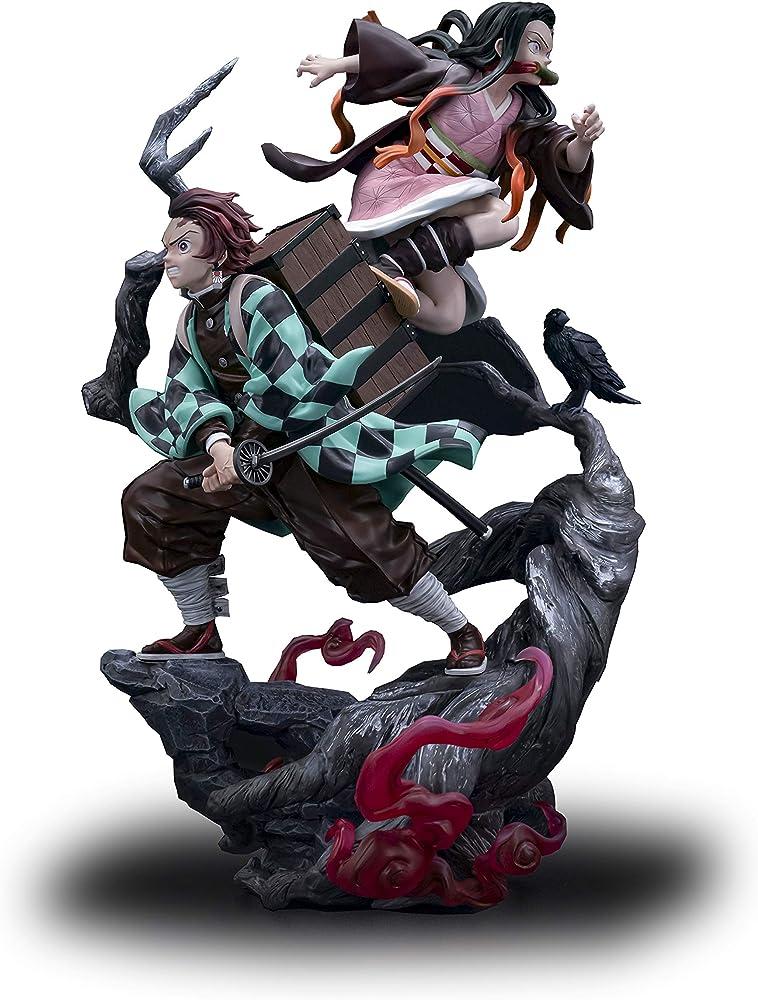 Wuhuayu demon slayer , statuetta di nezuko e tanjiro , alto 47 cm YUKIYAFGK039K05L