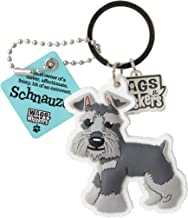 Wags and Whiskers Schnauzer Key Chain with Keyring/Key Holder (886767110721)