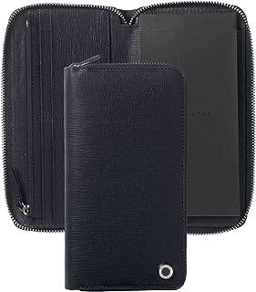 Hugo Boss HLV804N 压花牛皮,低调签名,深蓝色,黑色
