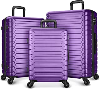 SHOWKOO 3 Piece Luggage Sets Expandable ABS Hardshell Hardside Lightweight Durable Spinner Wheels Suitcase with TSA Lock (...