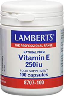 Lamberts Vitamina E. Natural 250UI - 100 Cápsulas
