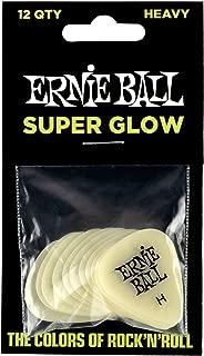 Ernie Ball Heavy Super Glow Guitar Picks, Bag of 12