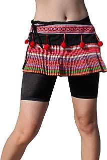 Hand Made Thailand Hmong Hill Tribe Short Wrap Mini Skirt