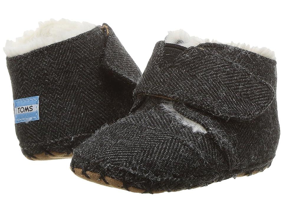 TOMS Kids Cuna (Infant/Toddler) (Black Herringbone) Kids Shoes