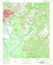 YellowMaps Macon East GA topo map, 1:24000 Scale, 7.5 X 7.5 Minute, Historical, 1956, Updated 1970, 26.9 x 22.1 in