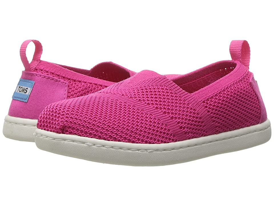 TOMS Kids Knit Alpargata Espadrille (Infant/Toddler/Little Kid) (Fuchsia Mesh) Girls Shoes