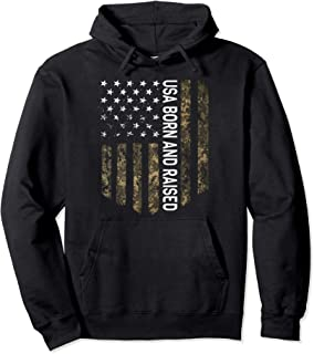 Patriotic American Flag Camo United We Stand USA Patriot Pullover Hoodie