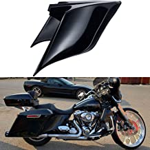 Advanblack Vivid/Glossy Black Stretched Side Covers Fit for 2014+ Harley Touring Street Glide Road Glide Special(ABS Plastic Panels, Side Skirts, 6 Pins)