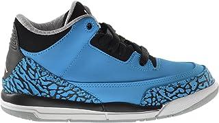 エアジョーダン3レトロパウダーブルー」BP Little Kids Basketball Shoes Dark Powder Blue/white-black-wolfグレー429487?–?406