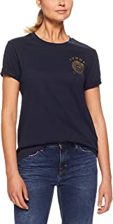 TOMMY HILFIGER Women's Crew Neck Crest T-Shirt