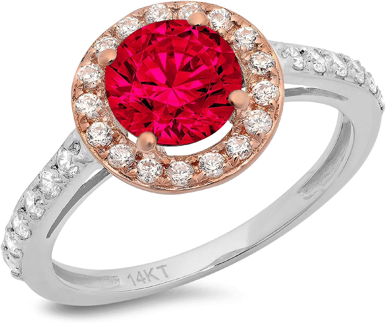 2.45 ct Round Cut Solitaire Halo Genuine Flawles Super beauty product restock Max 72% OFF quality top Stunning accent