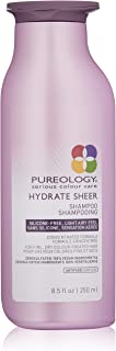 Pureology | Hydrate Sheer Moisturizing Shampoo | For Fine, Dry Color Treated Hair | Sulfate-Free | Silicone-Free | Vegan