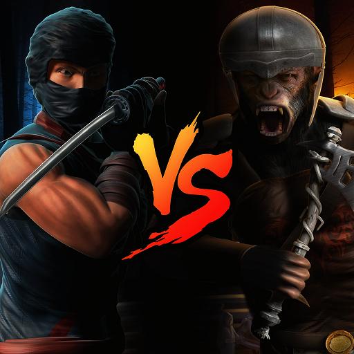 Ninja VS Apes Ninja Survivre Jeu de guerrier Superhero Action Fighting Simulator 3D: City Killer of Crime Les criminels de la mafia Gangster Dans Survie Aventure Jeux gratuits pour les enfants 2018