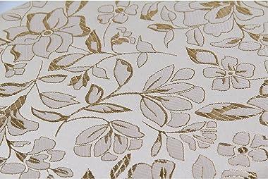 AllRight Tabouret À Fleurs – Siège de Coiffeuse Style Baroque en Bois avec Pieds Arqués et Motif Rose Élégant pour Table de M