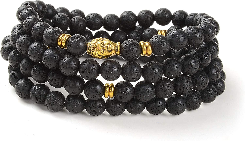 Self-Discovery 108 Japa Mala Beads Bracelet Buddha Charm Bracele