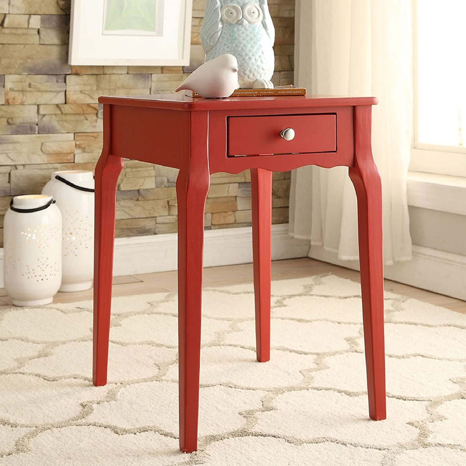 Inspire Q Daniella 1-Drawer Wood Storage Si Table Side - Our shop most popular by Very popular Bold
