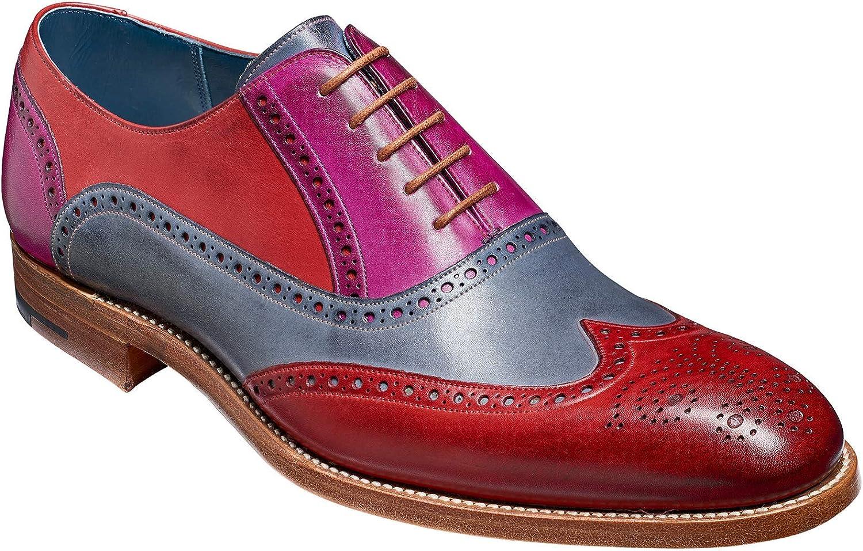 BARKER Valiant Multi - Red/Grey/Purple Handpainted Brogue Oxford Shoe for Men Shoes