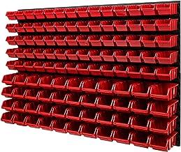 Wandplank Stapelboxen - 1152 x 780 mm - 114 stuks. Dozen Opslagsysteem Gereedschapsgatwand Schüttenregal (rood)