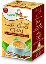 Nature's Guru Instant Masala Spice Chai Tea Drink Mix Unsweetened 10 Count Single Serve On-the-Go Drink Packets