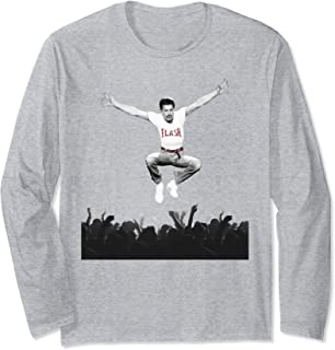 Freddie Mercury Official Flash Jump Crowd Long Sleeve T-Shirt