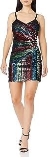 Parker womens Emmaline Asymmetric Embellished Cocktail Dress Formal Dress