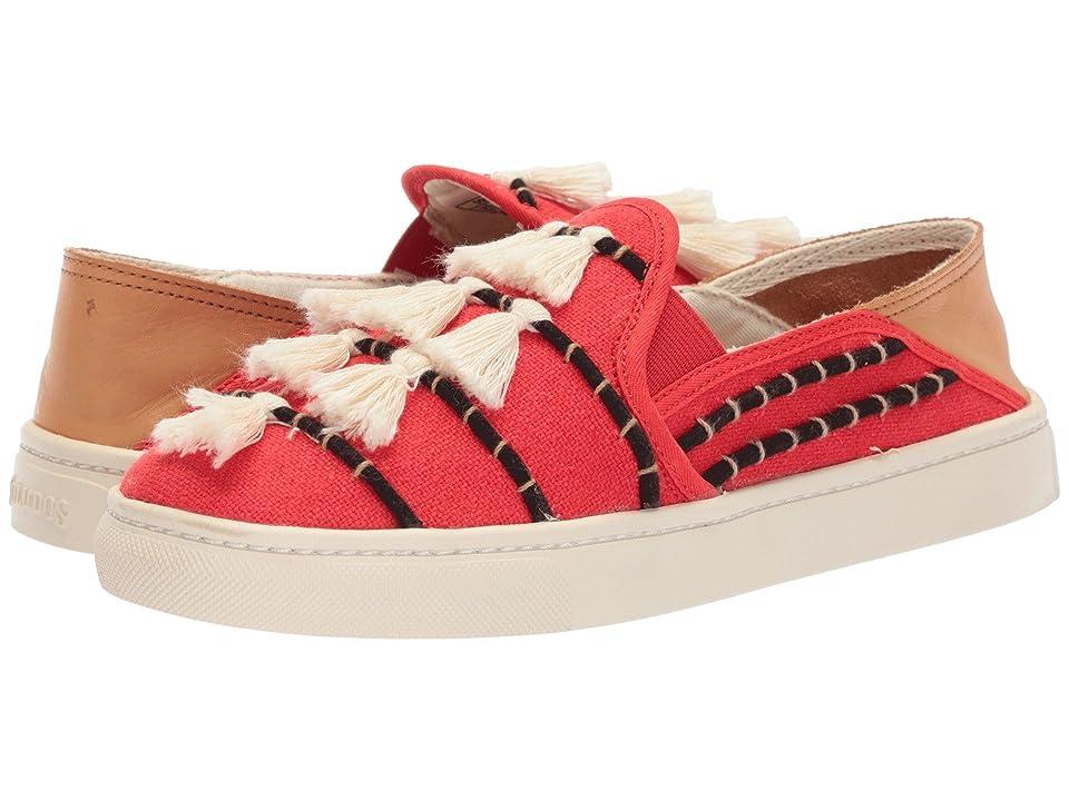 Soludos Tassel Slip-On Sneaker (Red/Beige) Women