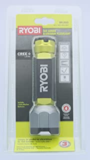 Ryobi RFL905 160-Lumen Water-Resistant 3-Mode Aluminum Cree LED Flashlight (AAA Batteries Not Included, Flashlight Only)