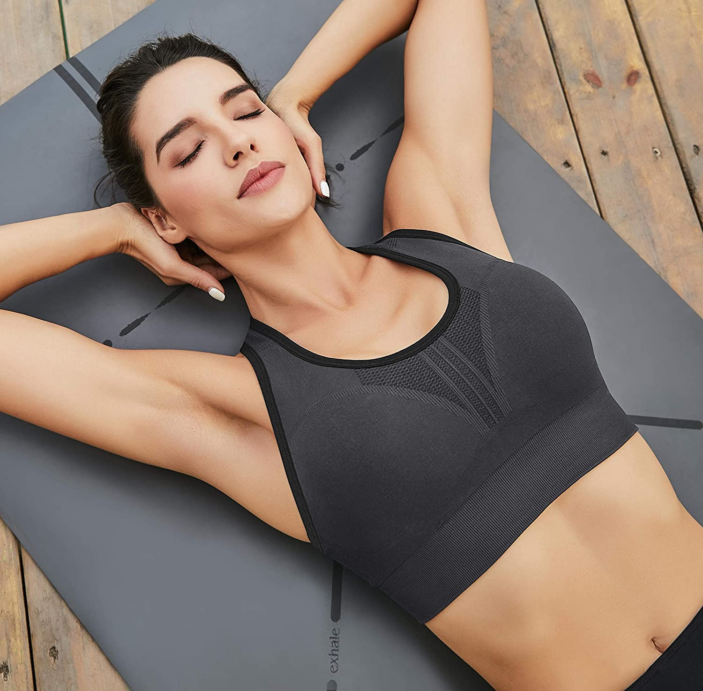 Heathyoga High Impact Sports Bras for Women Padded Sports Bras for Women Workout Bra Racerback Sports Bras Yoga Bras
